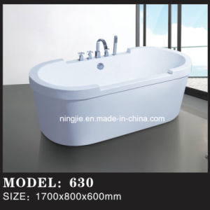Modern Freestanding Soaking Eillpse Shape Bathtub (630) pictures & photos