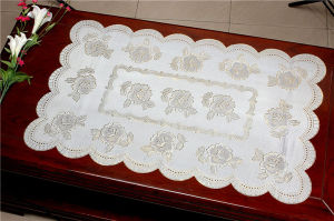 Vinyl PVC Lace Gold/Silver Placemat pictures & photos
