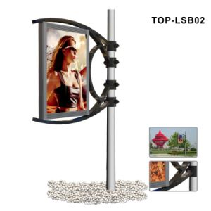 One Side Static Flex Banner Lamp Post Light Box pictures & photos