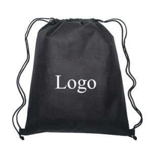 Customized Logo Branded Promotional Drawstring Bag pictures & photos
