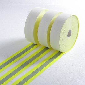 Bicolor Fire Retardant Warning Reflective Tape with (5002Y) pictures & photos