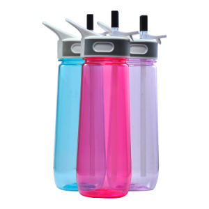 650ML Plastic Sports Bottle With Straw, Water Bottle Joyshaker With Straw, Plastic Joyshaker Water Bottle With Straw pictures & photos