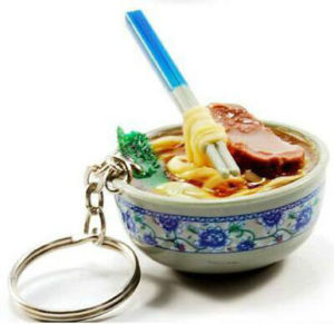 2017 OEM Design Plastic Food Keychain pictures & photos