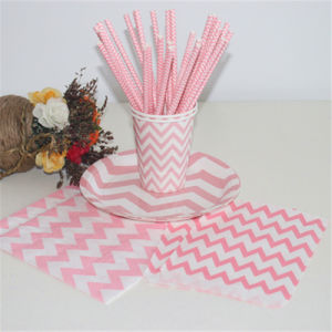 Food Grade Paper Wrapped Flexible Drinking Straw for Party pictures & photos