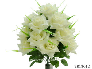 Artificial/Plastic/Silk Flower for Decoration Rose Bush (2818012) pictures & photos