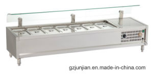 Tzlr Stainless Steel Desktop Hot and Cold Fast Food Showcase/Buffet Food Warmer and Chiller pictures & photos