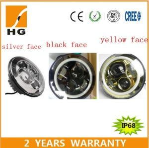 7′′ High Low Beam LED Headlight with Halo Ring pictures & photos