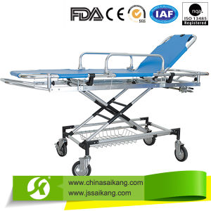 China Supplier First Aid Stretcher Trolley for Ambulance Car pictures & photos