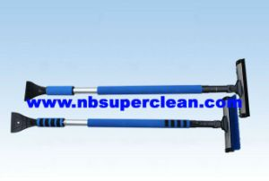 10′head Telescopic Snow Brush with Window Scraper (CN2259) pictures & photos