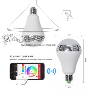 Smartphone Controlled Wireless Bluetooth Speaker Smart LED Light Bulb pictures & photos