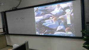 """160""""Infrared Interactive Whiteboard, Single Projector, Middle Screen Touching pictures & photos"""
