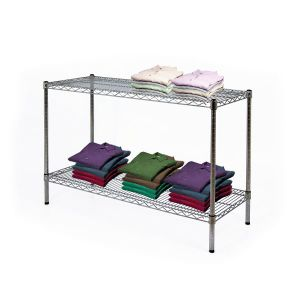 NSF 2 Tiers Metal Wire Display Rack for Shop pictures & photos