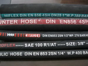 SAE 100 R2at High Pressure Rubber Hydraulic Hose pictures & photos