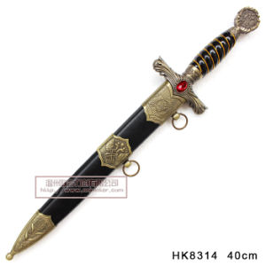 Manual Imitation European Knight Dagger European Dagger Historical Dagger with Ruby pictures & photos