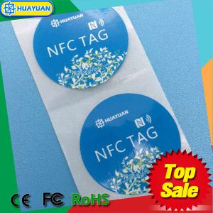 13.56MHz Ntag 213 Adhesive RFID Paper Label Sticker pictures & photos