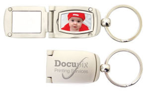 Promotion Gift Wholesale Laser Engrave Logo Metal Photo Keychain (F1349)
