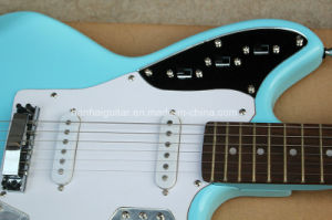 Hanhai Music / Sky Blue Electric Guitar (Jaguar Style) pictures & photos