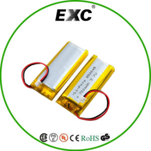 3.7V 700mAh Exc852045 Rechargeable Li- Polymer Battery pictures & photos