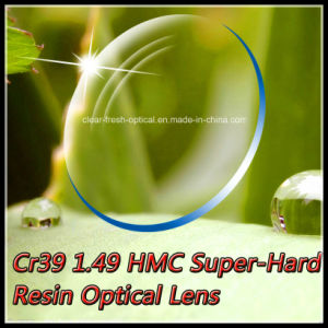 Cr39 1.49 Hmc Super-Hard Resin Optical Lens
