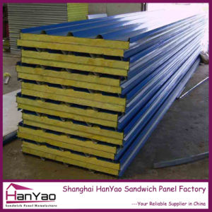 Fireproof Steel Rockwool Sandwich Panel Roofing Panels for House Building pictures & photos