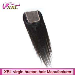 Knots Bleached Brazilian Human Hair Virgin Lace Closure pictures & photos