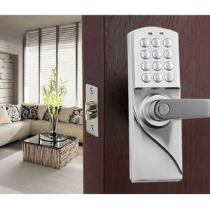Easy-Installed Digital Electronic Door Lock with Code or Key pictures & photos