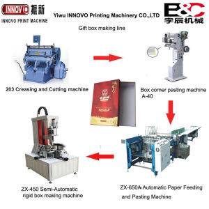 Creasing Cutting Pasting Folding Machine Complete Box Making Line pictures & photos