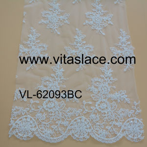 1.4m Ivory Rayon Corded & Beaded Lace for Wedding Clothes Vl-62093bc pictures & photos