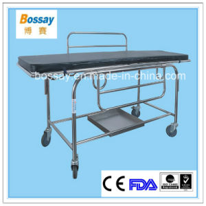 Removable Patient Trolley with Silent Castors Patient Stretcher Trolley pictures & photos