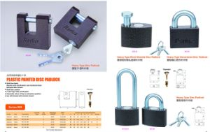 Plastic Painted Pattern Iron Padlock pictures & photos