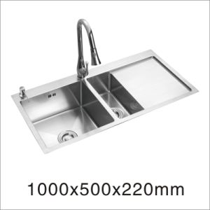 Handmade Stainless Steel Sink with Board (7842S) pictures & photos