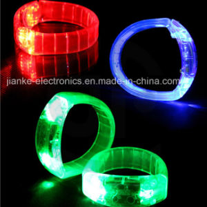 Super Popular Light up LED Wristbands with Logo Printing (4011) pictures & photos
