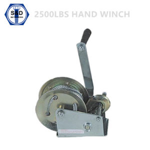 2500lbs Hand Winch Zinc Plated with Strap pictures & photos