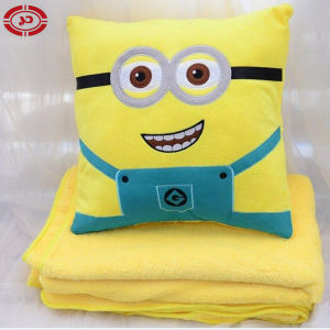 Despicable Me Minion Set Pillow and Blanket Cushion pictures & photos
