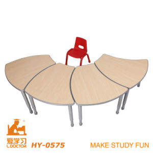 Colorful Kindergarten Furniture&Adjustable Wooden Table pictures & photos