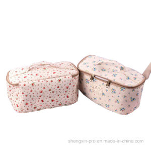 100% Cotton Makeup Bag Cosmetic Bag with Handles pictures & photos
