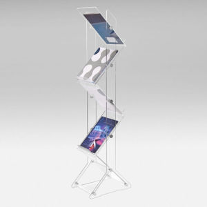 Zig Zag Acrylic Brochure Display Stand pictures & photos