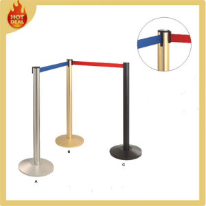 Airport Steel Crowd Control Posts Retractable Queue Pole Barrier pictures & photos