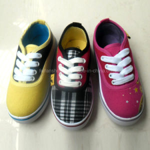 New Style Fashion Children Printing Casual Canvas Shoes (HH1613-2) pictures & photos