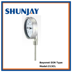 Bimetal Bayonet Wika Type Thermometer for Industry