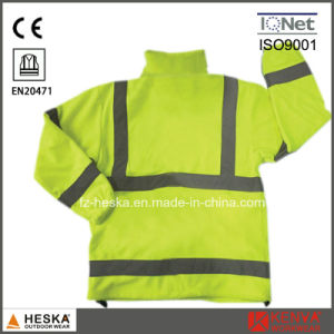 Safety Mens Polar Fleece High Visiblilty Reflective Hi Vis Fleece Jacket pictures & photos