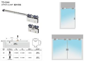 Stainless Steel Locking Patch Fitting Glass Door Hinge /Td-115A pictures & photos