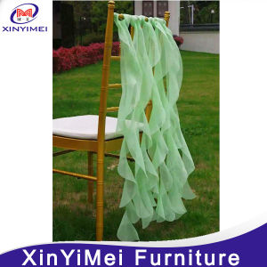 2016 Hot Selling Colorful Rose Organza Chair Sash for Wedding pictures & photos