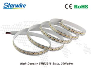 High Density 300 LEDs SMD2216 Strip Light with Ce/RoHS pictures & photos