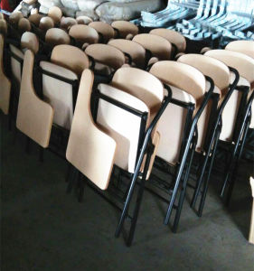 Hot Sale Student Chair Folding Chair Classroom Chair with Writing Table Pad pictures & photos