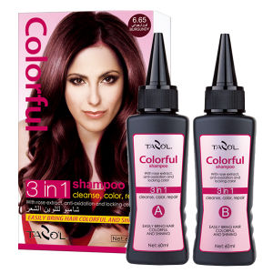60ml*2 Light Brown Hair Color Shampoo in 5 Minutes pictures & photos