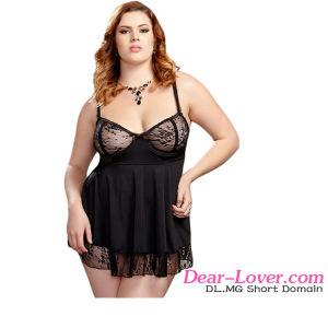 Plus Size Flirty Lace Babydoll Lingerie pictures & photos