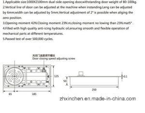 Xc-D3102 Door Hardware Glass Door Floor Spring pictures & photos
