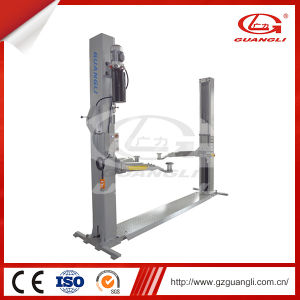Automobile Service Station Tools Guangli Manufacturer Hydraulic Two Post Car Lift with Floor Plate pictures & photos