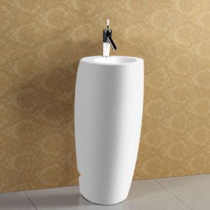 High Quality White Glazed Ceramic Pedestal Basin pictures & photos